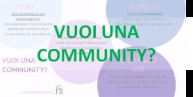 vuoi una community
